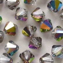 6mm Preciosa Crystal Bicone Vitrail Medium - 72